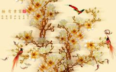 易玻背景墙 1 鱼 家和万事兴 彩色 热转印