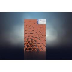 水立方压花彩镜 酒红 1.83 x 2.44 4-6mm 水立方