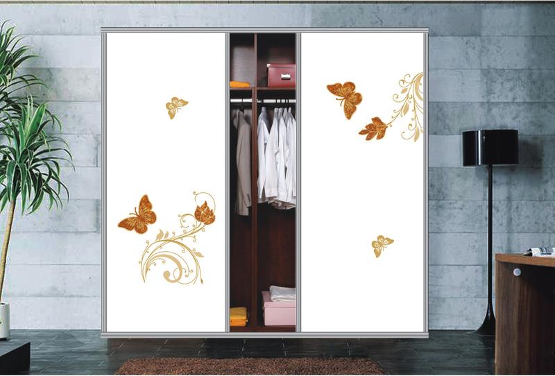 金蝴蝶衣柜门