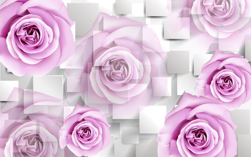 易玻背景墙12 蝴蝶 玫瑰1